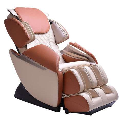 Brookstone BK-150 massage chair ivory and toffee