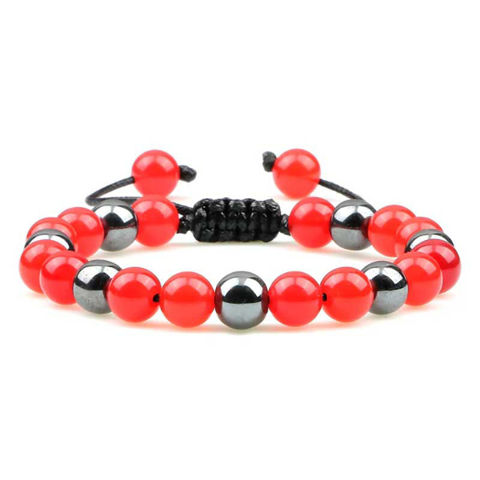 Picture of Magnetic Hematite Polished Onyx Beads Healing Bracelet