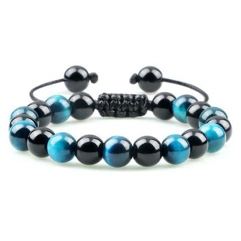Picture of Black Obsidian Adjustable Healing Bracelet
