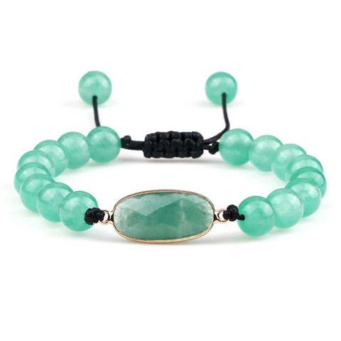 Green stone healing bracelet
