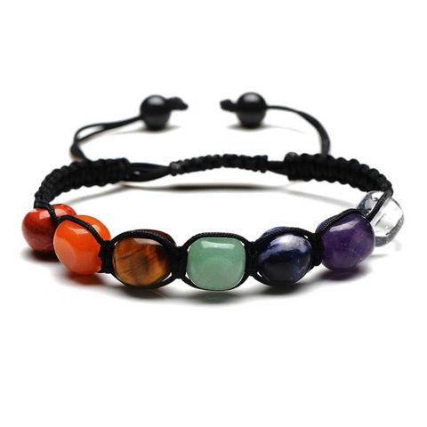 Picture of 7 Chakra Handmade Braided Indian Yoga Healing Bracelet