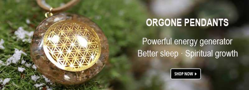 Orgonite pendant necklaces, feng shui necklaces