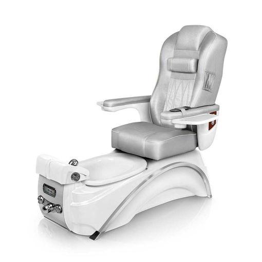Lexor Elite pedicure spa in white pearl base and platinum cushion
