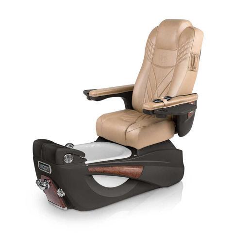 Lexor Luminous pedicure chair in espresso base and acorn cushion