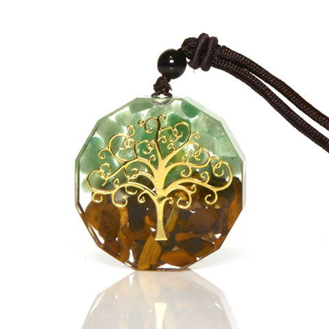 Picture of Mulany MN111 Tree Of Life Orgonite Necklace