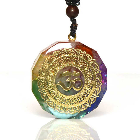 Picture of Mulany MN203 Orgone Pendant Luminous Crystal Chakra Necklace