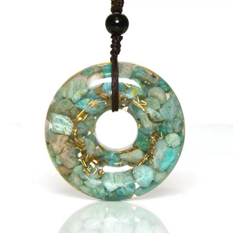 Picture of Mulany MN206 Orgone Pendant EMF Protection Necklace