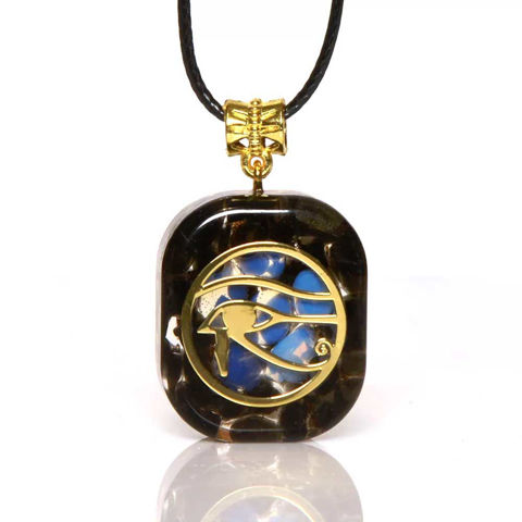 Picture of Mulany MN209 Orgone Pendant Egyptian Ancient Eye Of Ra Horus Necklace