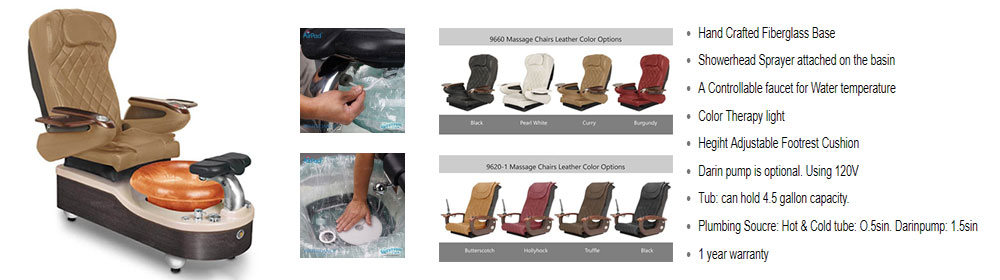 Gulfstream Venice pedicure chair