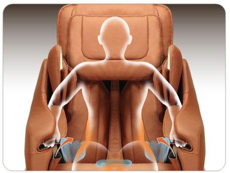 air hip massage of Titan Executive massage chair