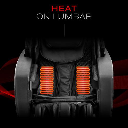 Heat lumbar system of Osaki Ekon massage chair