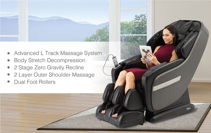 Titan Pro Summit massage chair promotional banner