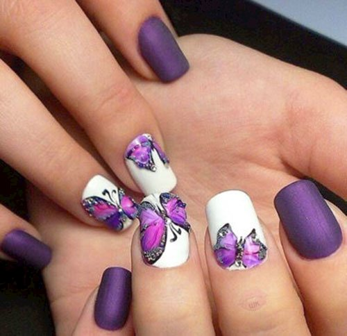 butterfly nail art picture