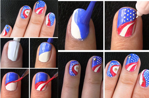 The Fourth of July Nail Art