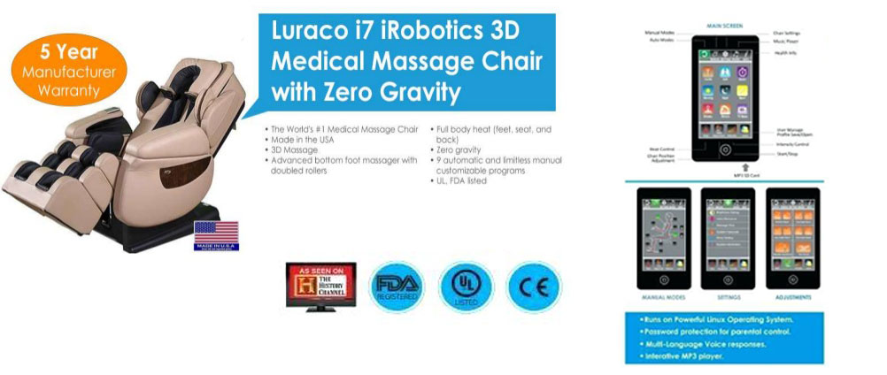Luraco i7 massage chair specs and review