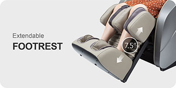 Titan Oppo 3D massage chair has extended footrest