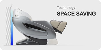 Titan Oppo 3D massage chair with space saving design