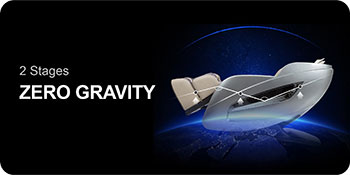 Titan Oppo 3D massage chair in zero gravity stage