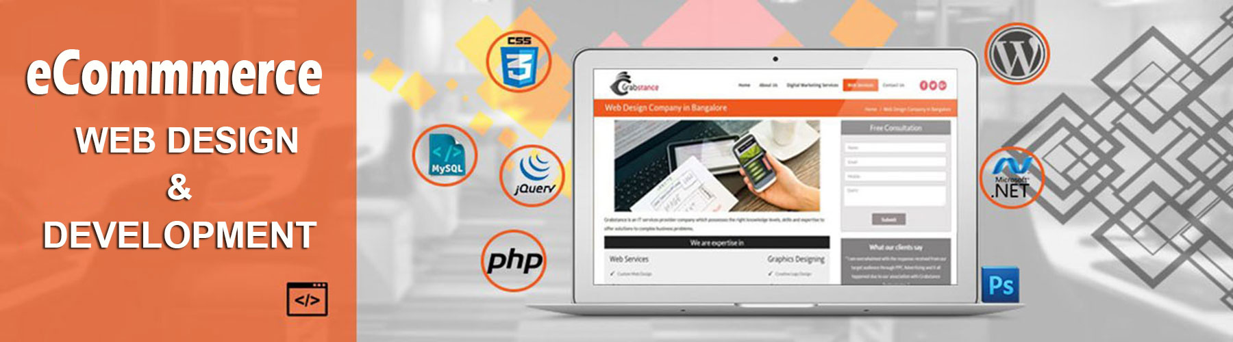 eCommerce website design service banner